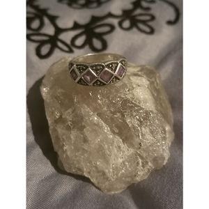 Amethyst marcasite .925 ring